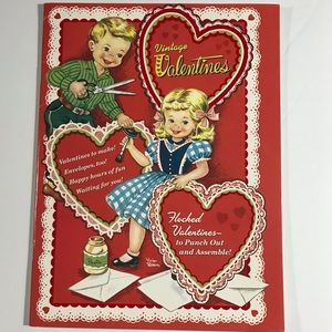 Vintage Valentine's Day cards + envelopes
